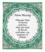 English Home Blessing Fleece Blanket