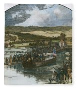 Erie Canal Opening, 1825 Fleece Blanket