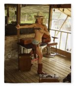 Everglades Cowgirl Fleece Blanket