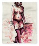 Figure Study Fleece Blanket