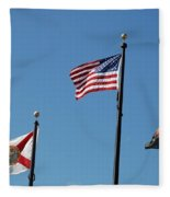 3 Flags Fleece Blanket