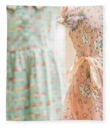 Floral Pattern Young Girl Dresses In Shop Fleece Blanket