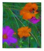 Flower Painting Fleece Blanket