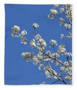 Flowering Trees Fleece Blanket