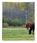 3 Horses Fleece Blanket
