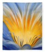 From The Heart Of A Flower Blue Fleece Blanket
