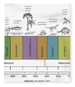 Geologic Time Line Fleece Blanket