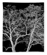 Ghost Trees Fleece Blanket