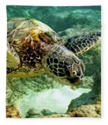Green Sea Turtle Fleece Blanket
