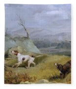 Grouse Shooting Henry Thomas Alken Fleece Blanket