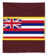 Hawaii Flag Fleece Blanket