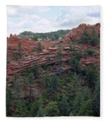 Hiking The Mesa Trail In Red Rocks Canyon Colorado Fleece Blanket