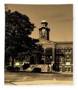 Historic White Hall - Tuskegee University Fleece Blanket