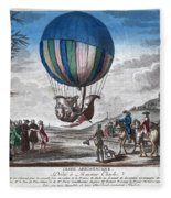 Hydrogen Balloon, 1783 Fleece Blanket