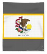 Illinois Flag Fleece Blanket