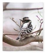Img_0001 - Downy Woodpecker Fleece Blanket