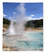 Imperial Geyser, Yellowstone Np Fleece Blanket