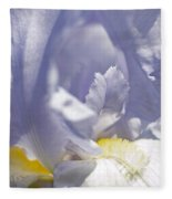 Iris Flowers Fleece Blanket