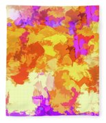 It's An Abstract Day Fleece Blanket