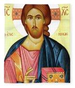 Jesus Teaching Fleece Blanket