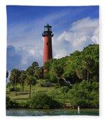 Jupiter Lighthouse Fleece Blanket