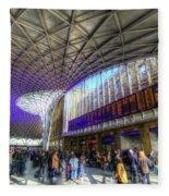 Kings Cross Rail Station London Fleece Blanket