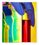 Laboratory Test Tube In Science Research Lab Fleece Blanket