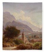 Landscape In Upper Italy Fleece Blanket