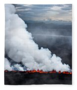 Lava And Plumes From The Holuhraun Fleece Blanket