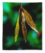 3 Leaves Fleece Blanket