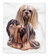 Lhasa Apso Triple Fleece Blanket