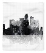 Los Angeles California Skyline Fleece Blanket