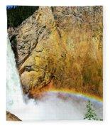 Lower Falls Rainbow Fleece Blanket