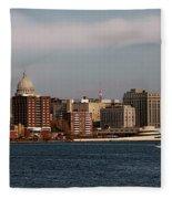 Madison Wisconsin Fleece Blanket