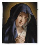 Madonna At Prayer Fleece Blanket