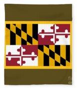 Maryland Flag Fleece Blanket