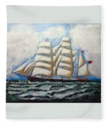 3 Master Tall Ship Fleece Blanket