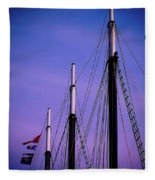 3 Masts In Halifax Fleece Blanket