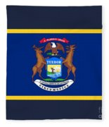 Michigan Flag Fleece Blanket