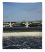 Minneapolis - Saint Anthony Falls Fleece Blanket