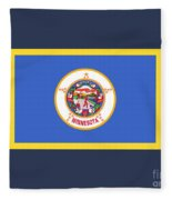 Minnesota Flag Fleece Blanket