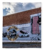 Mural - Downtown Bristol Tennessee/virginia Fleece Blanket