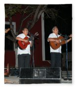 Musicians In The Park Candelaria In Valladolid Fleece Blanket