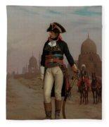 Napoleon In Egypt Fleece Blanket