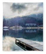 Nature Around Lake Lure Chimney Rock And Broad River North Carol Fleece Blanket
