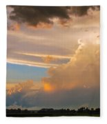 Nebraska Hp Supercell Sunset Fleece Blanket