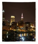 Nightlife In Cleveland Fleece Blanket