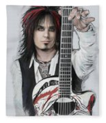 Nikki Sixx 4 Fleece Blanket