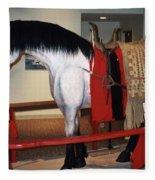 North Dakota Cowboy Hall Of Fame Fleece Blanket