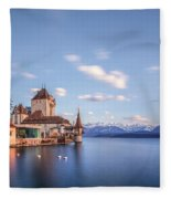 Oberhofen - Switzerland Fleece Blanket